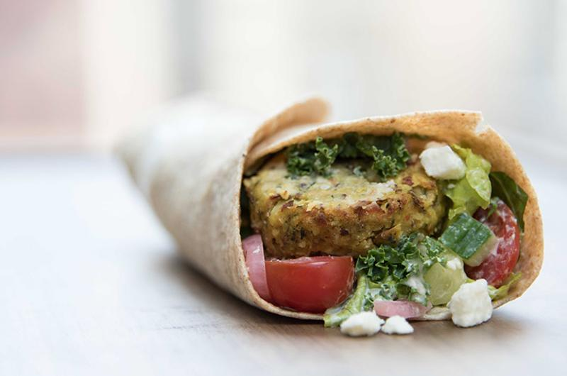 thrive 360 falafel wrap