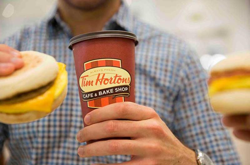 tim hortons coffee sandwich