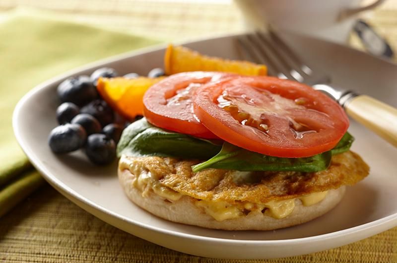 tofu breakfast sandwich, frittata