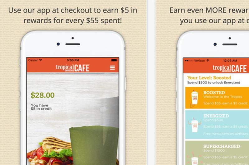 tropical smoothie cafe app