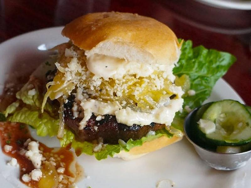 The Addiction Bistro Truffle Burger