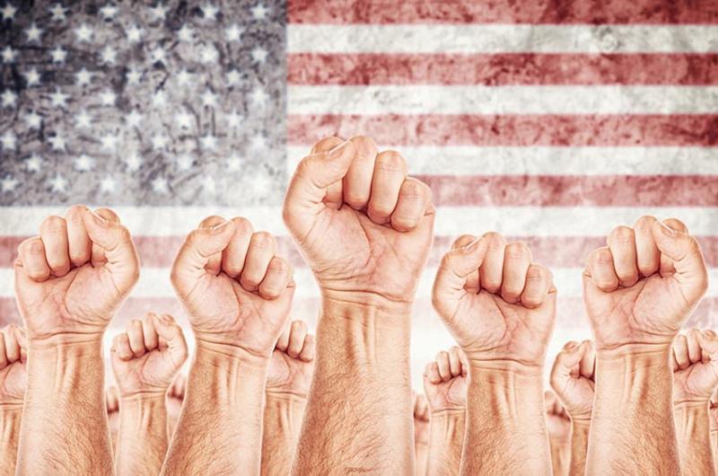 union fists flag