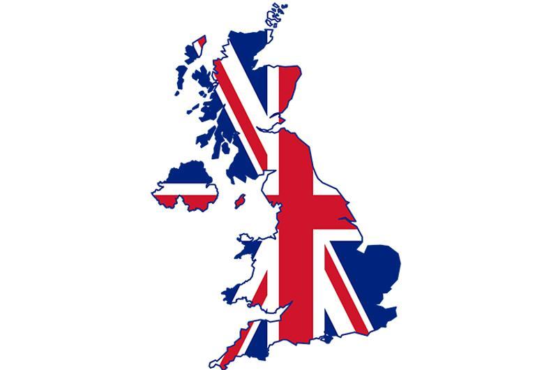 united kingdom map flag