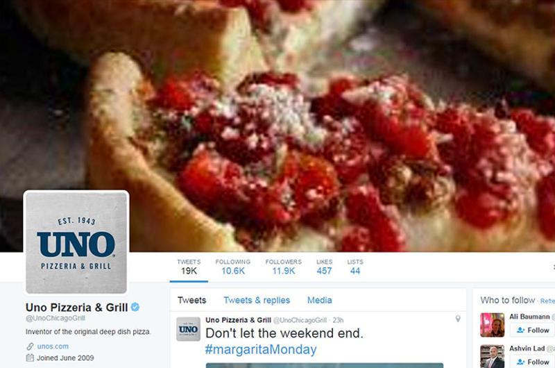 uno pizzeria grill twitter