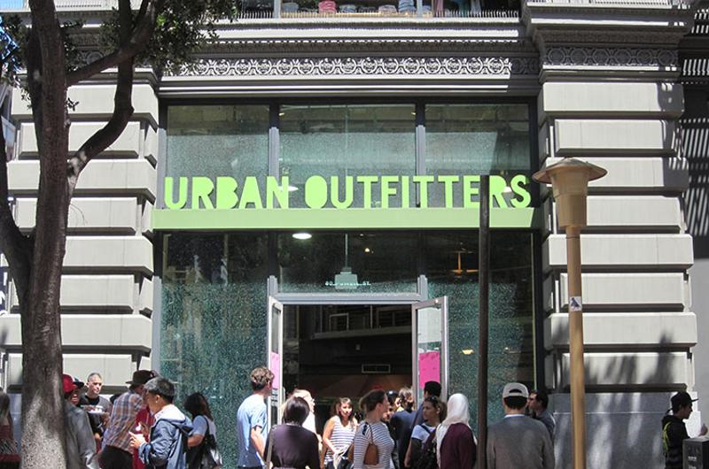 urban outfitters exterior