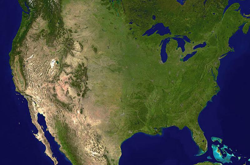 usa map geographic