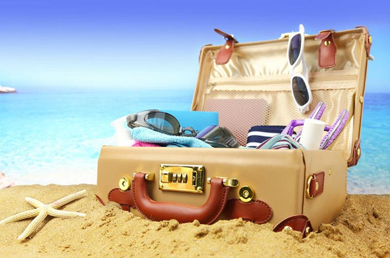vacation beach suitcase