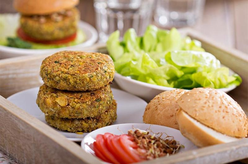 vegan veggie burger patty