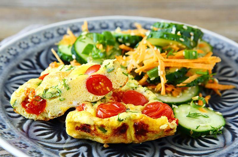 vegetable fritatta salad main