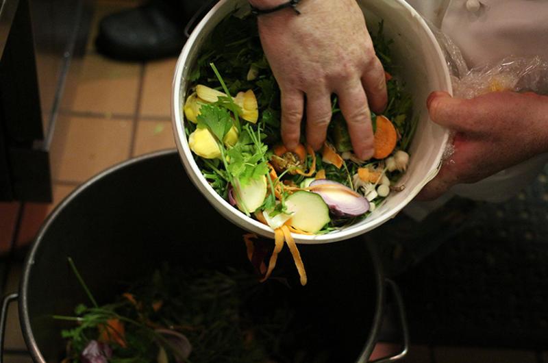 food waste restaurant kitchen