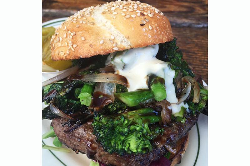 victory burger caramelized broccoli rabe