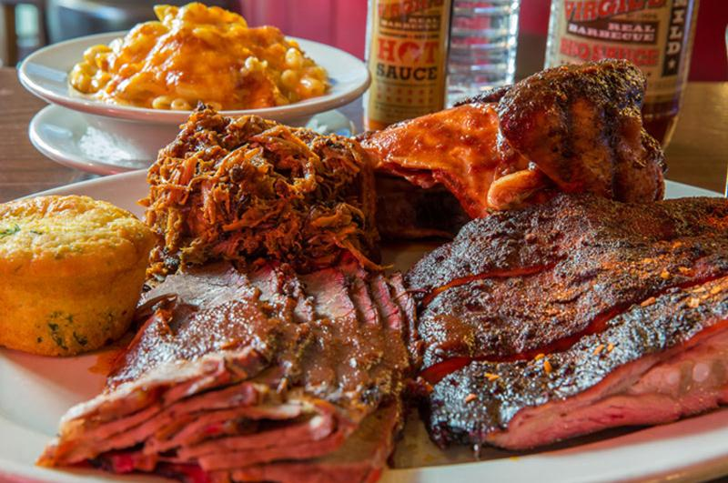 Virgil's Real Barbecue 'The Pig Out Platter'