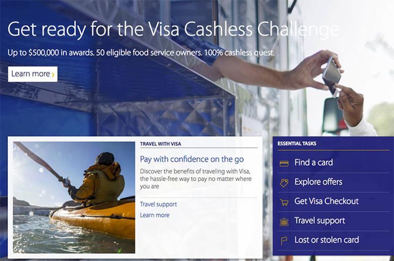 visa cashless