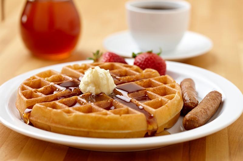 waffle plate sausage