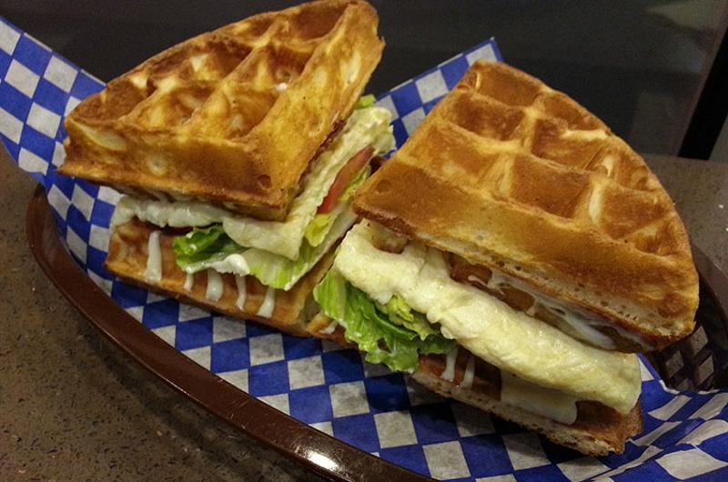 waffle sandwich milk bar