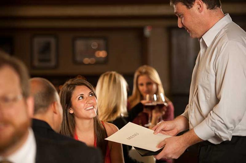 waiter busy restaurant