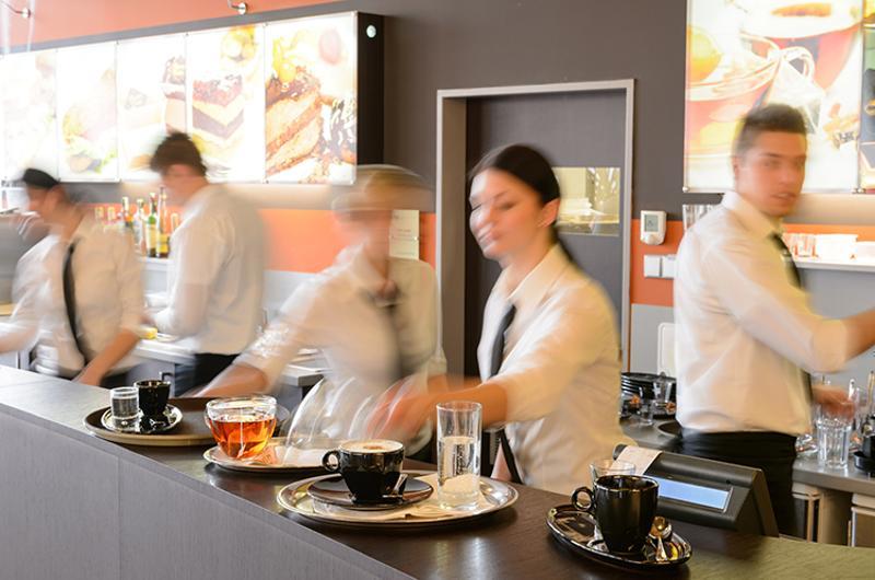 waiter waitress busy speed