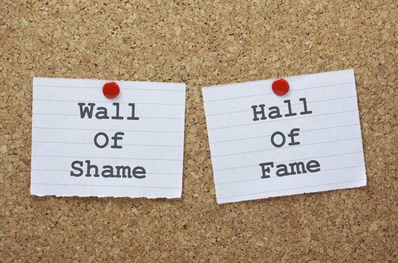 wall of shame hall of fame