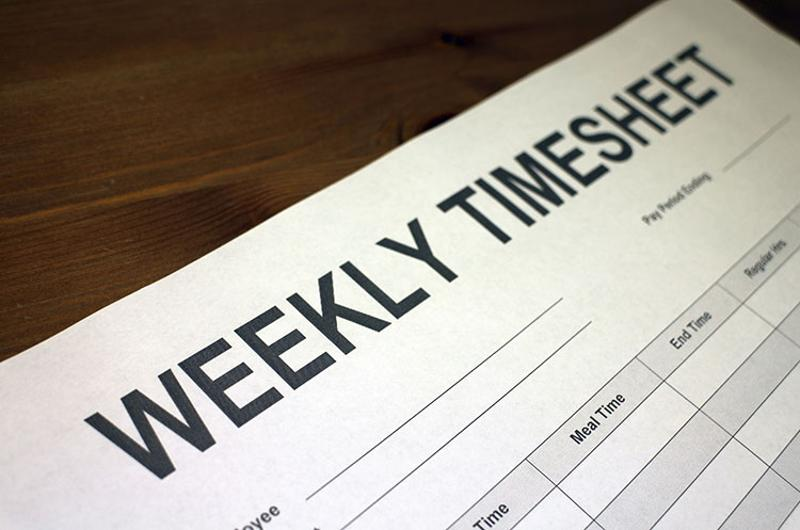 weekly timesheet