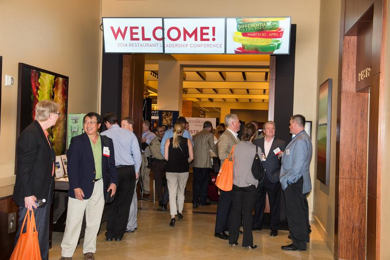 Restaurant Leadership Conference welcome reception, RLC