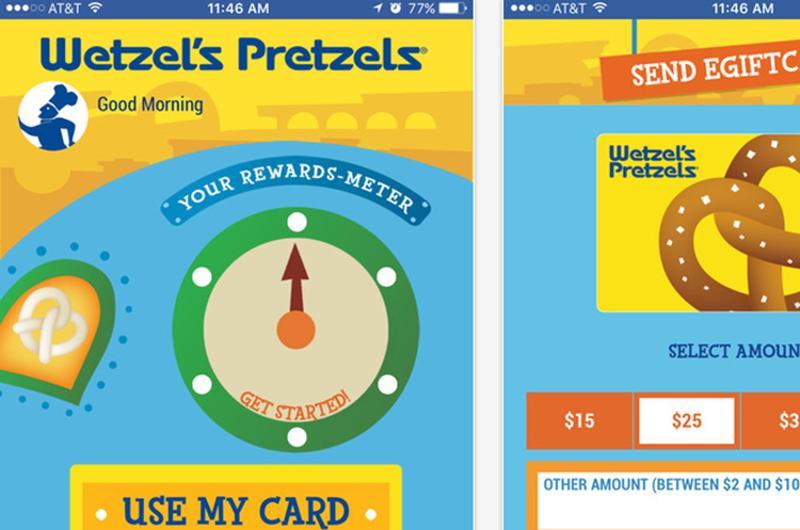 wetzels pretzels app