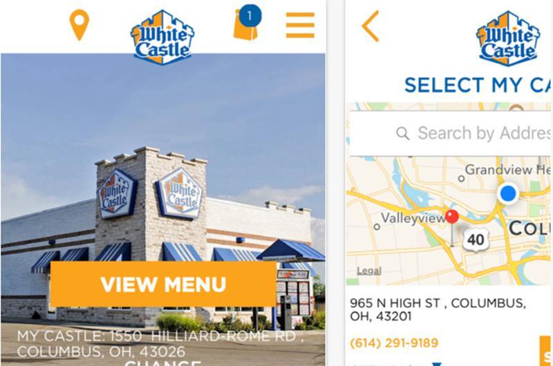 white castle app screenshot