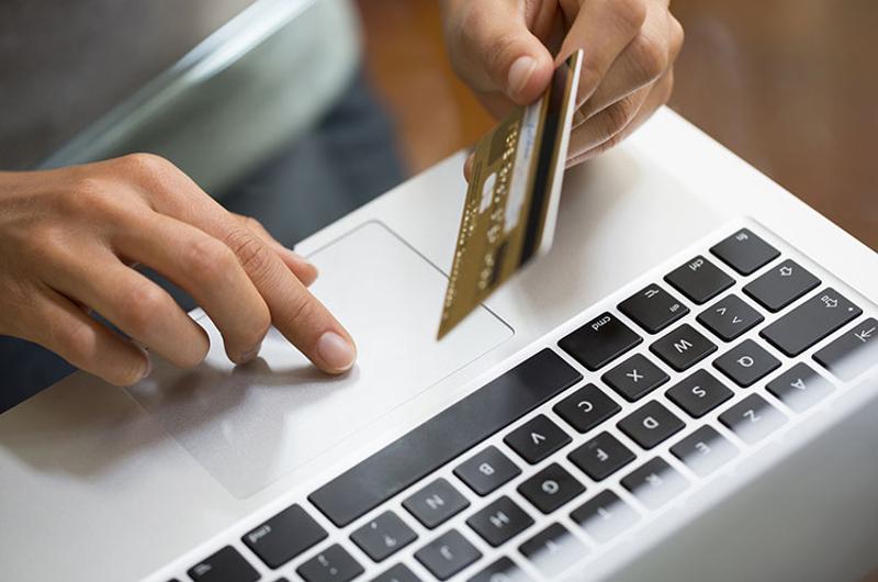 woman credit card web shopping