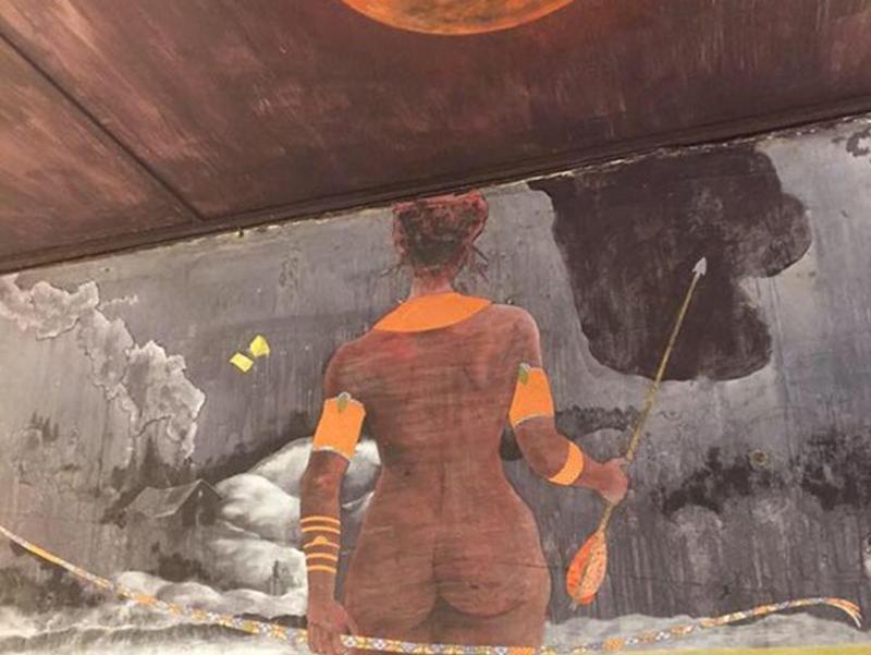 woman wall mural