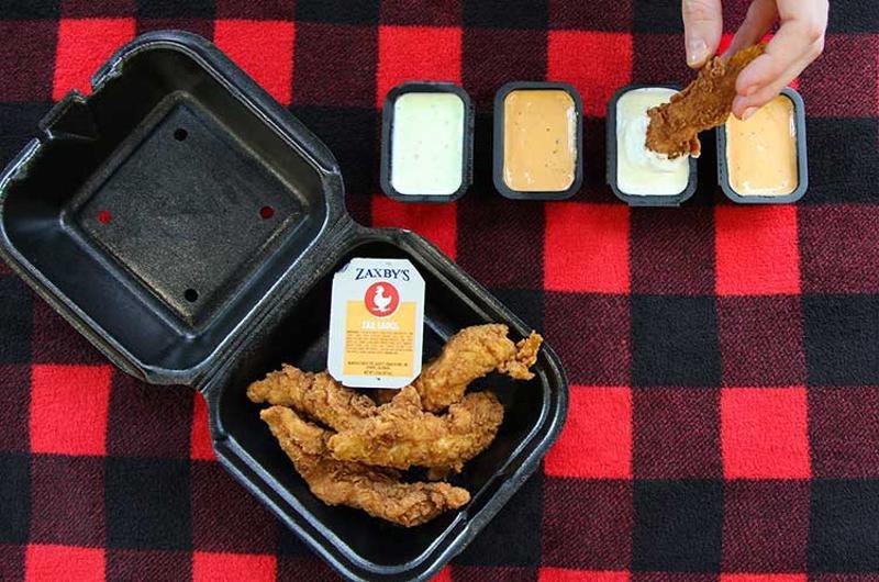 zaxbys chicken fingers sauces