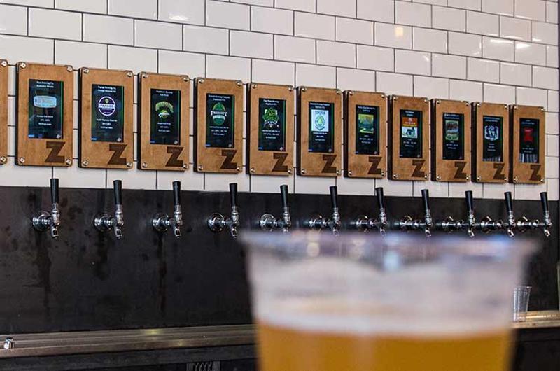 zpizza beer tap