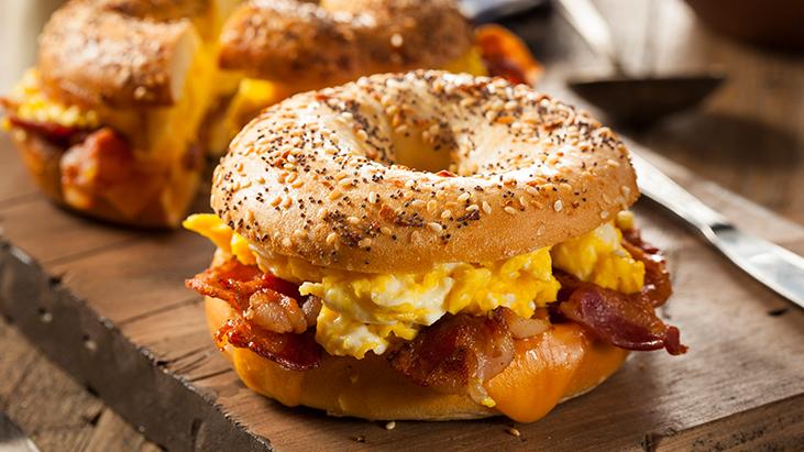 Breakfast Sandwich on a Bagel