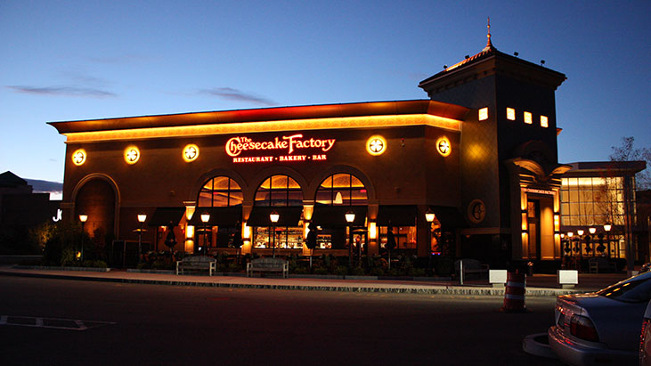 cheesecake factory exterior