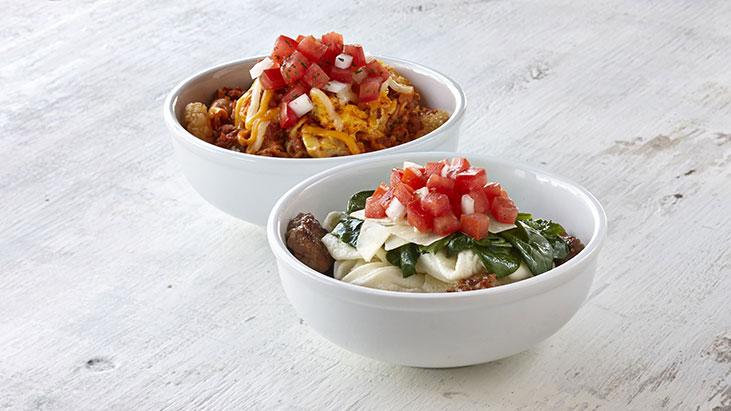 egg white turkey sausage scrambled egg chorizo breakfast bowls