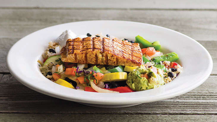 naked fajita bowl salmon