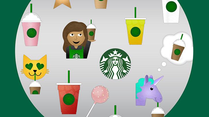 starbucks emojis