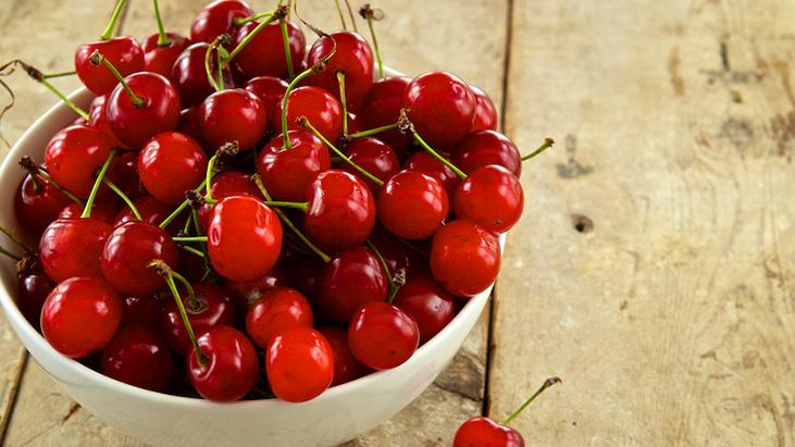 tart cherries in bowl