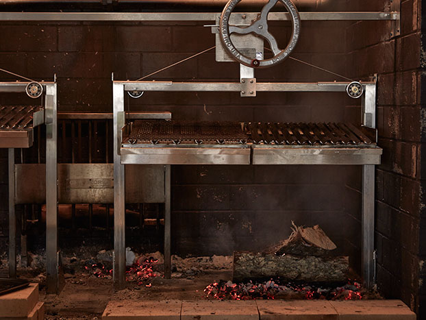wood fired grill