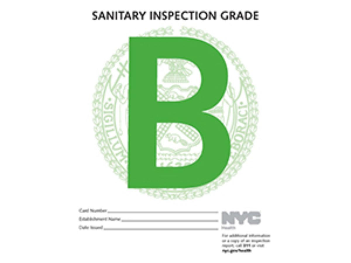 Posting health inspection grades