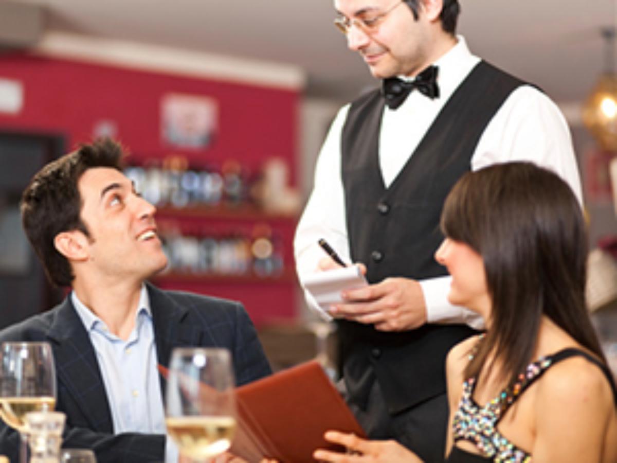 waiter taking orders