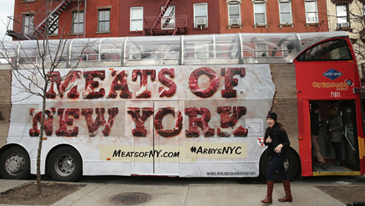 arbys meats of new york tour bus