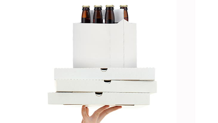 beer pizza delivery