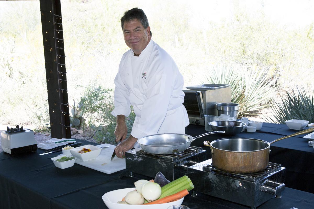 """Chef Alan """"Skip"""" Hause cooking demo at RLC"""