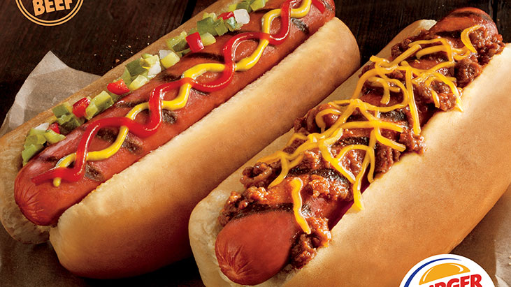 burger king grilled hot dogs