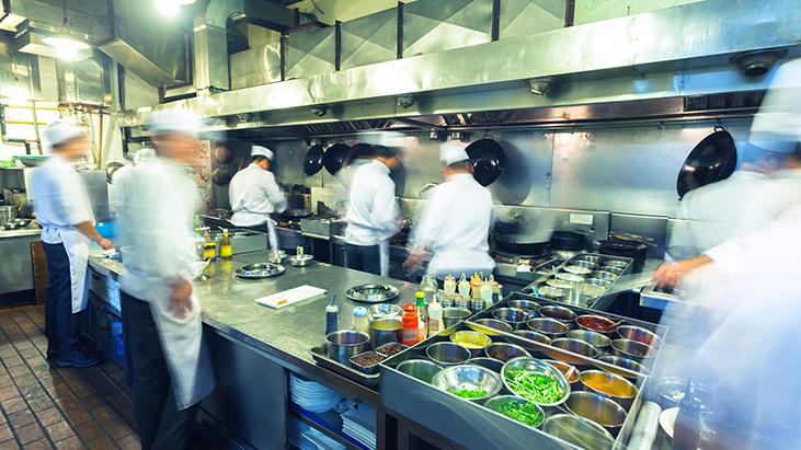 busy restaurant kitchen