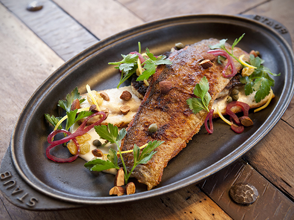 butcher and the rye pan-seared trout