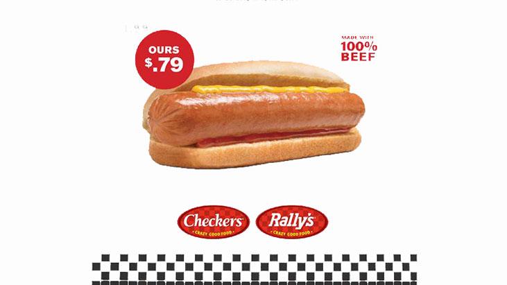 checkers rallys hot dog