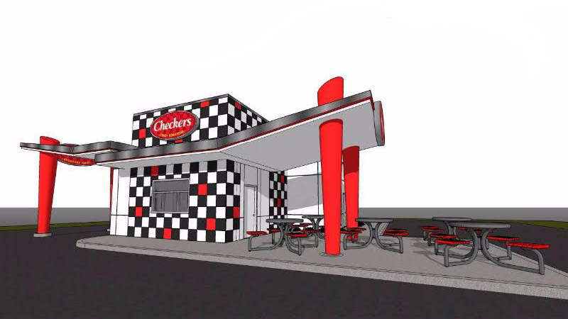 checkers shipping container restaurant prototype