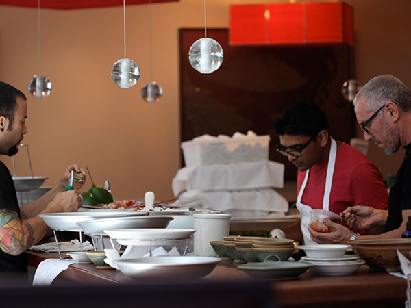 chefs prep table