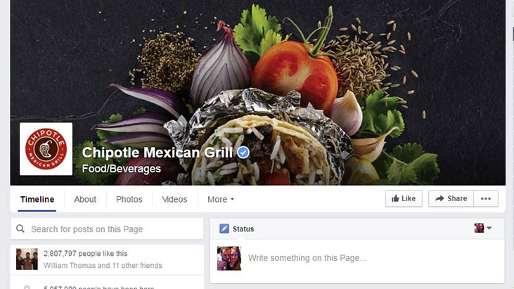 chipotle facebook screenshot