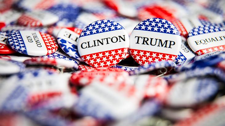 clinton trump pins